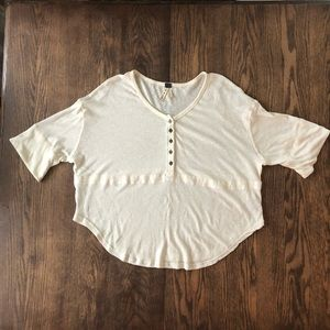 Free People Henley like new button down top